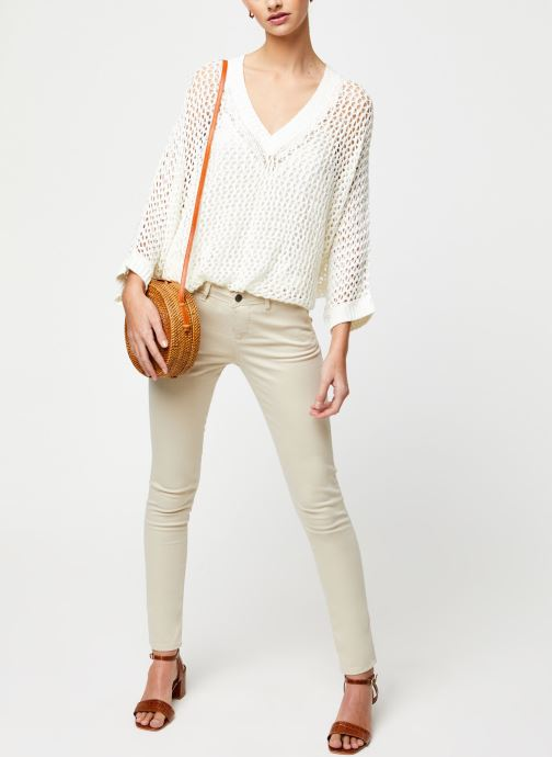 Vêtements School Rag Pull Prune Blanc vue bas / vue portée sac