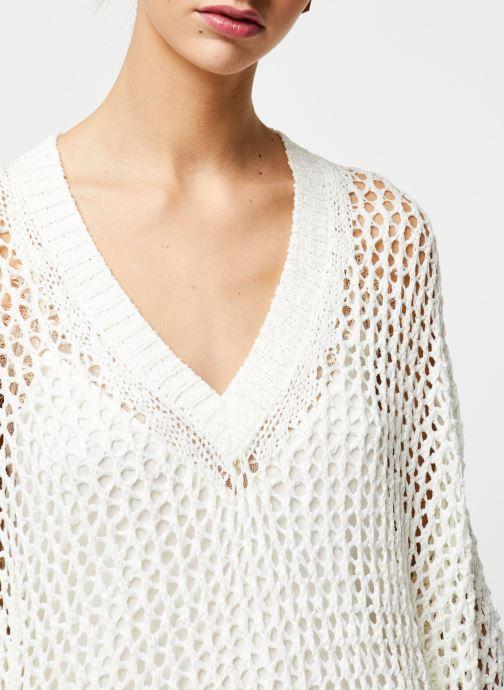 Vêtements School Rag Pull Prune Blanc vue face