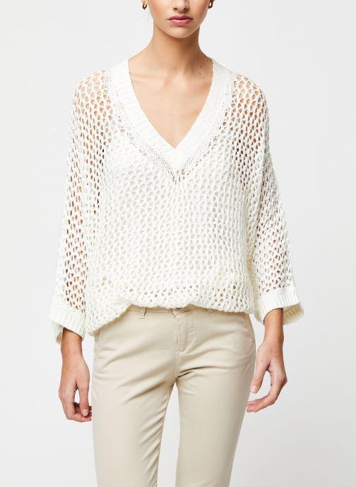 Vêtements School Rag Pull Prune Blanc vue détail/paire