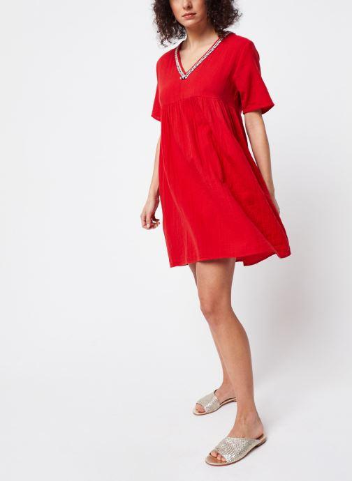 Vêtements School Rag Robe Rachela Rouge vue bas / vue portée sac