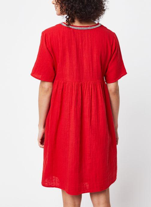 Vêtements School Rag Robe Rachela Rouge vue portées chaussures