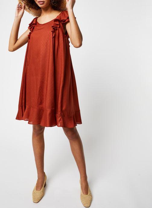 Vêtements School Rag Robe Ribella Marron vue bas / vue portée sac