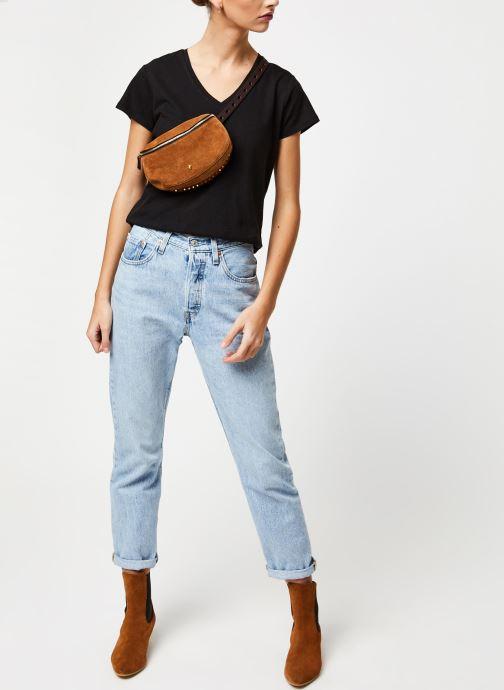 Vêtements School Rag T-shirt Tessa Noir vue bas / vue portée sac
