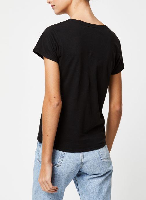 Vêtements School Rag T-shirt Tessa Noir vue portées chaussures
