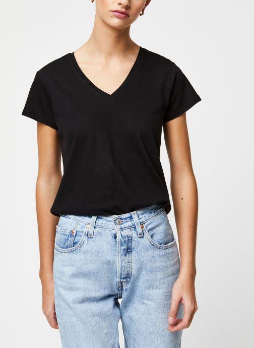 Vêtements School Rag T-shirt Tessa Noir vue détail/paire