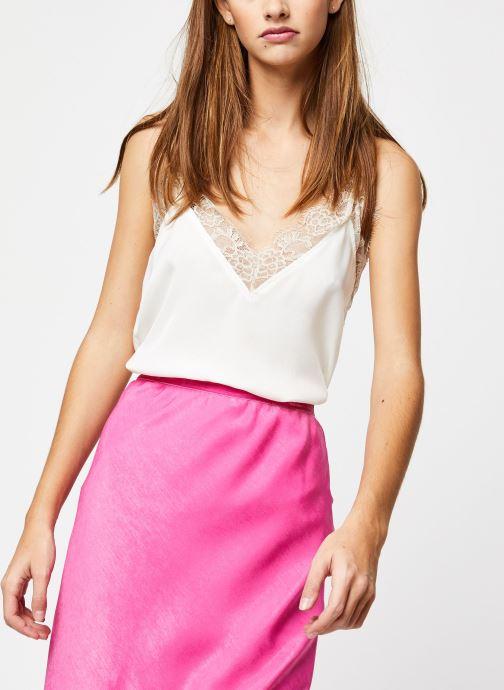 Vêtements School Rag Top Thea Blanc vue détail/paire