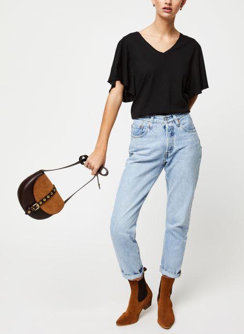 Vêtements School Rag Tee-shirt Tonya Noir vue bas / vue portée sac