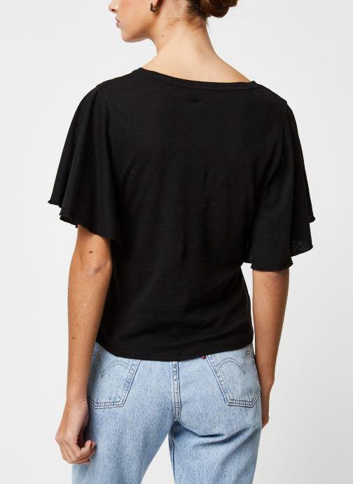 Vêtements School Rag Tee-shirt Tonya Noir vue portées chaussures