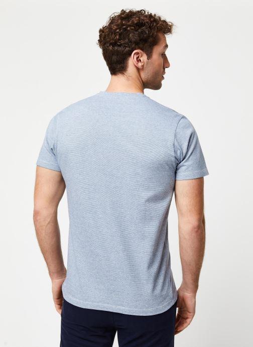 Vêtements Cuisse de Grenouille Tee Shirt - Leaf Bleu vue portées chaussures