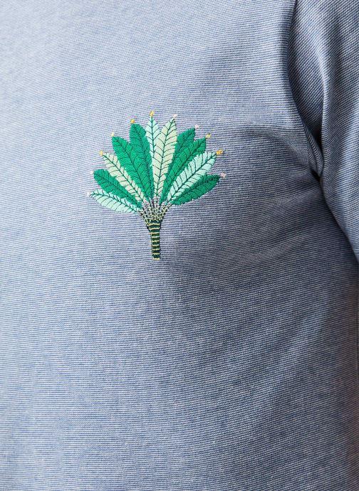 Vêtements Cuisse de Grenouille Tee Shirt - Leaf Bleu vue face