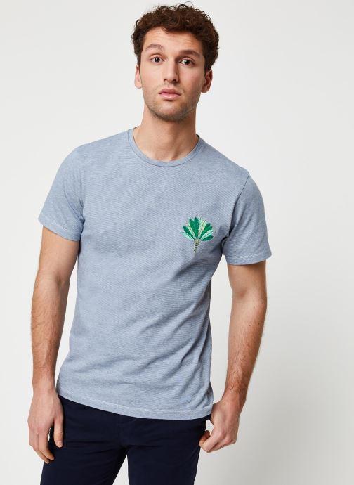 Vêtements Cuisse de Grenouille Tee Shirt - Leaf Bleu vue droite