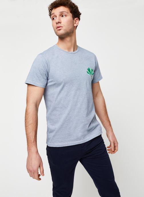 Vêtements Cuisse de Grenouille Tee Shirt - Leaf Bleu vue détail/paire
