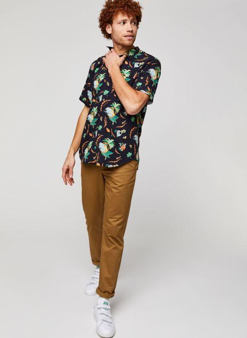 Vêtements Cuisse de Grenouille Shirt – Hawaii Blanc vue bas / vue portée sac