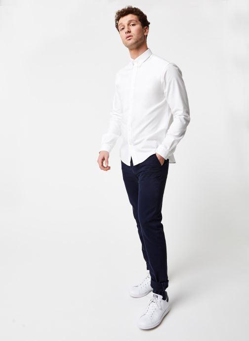 Vêtements Cuisse de Grenouille Shirt – Button Down + Maison Blanc vue bas / vue portée sac