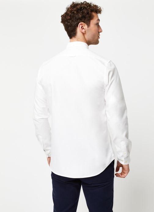 Vêtements Cuisse de Grenouille Shirt – Button Down + Maison Blanc vue portées chaussures