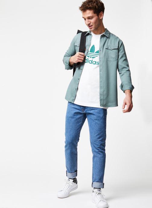 Vêtements Cuisse de Grenouille Shirt – Tencel Denim Vert vue bas / vue portée sac