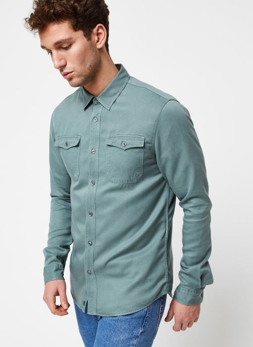 Vêtements Cuisse de Grenouille Shirt – Tencel Denim Vert vue droite