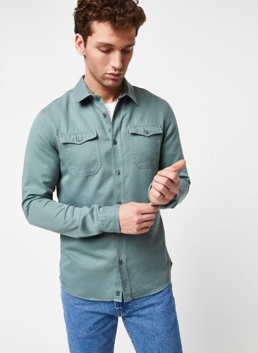Vêtements Cuisse de Grenouille Shirt – Tencel Denim Vert vue détail/paire