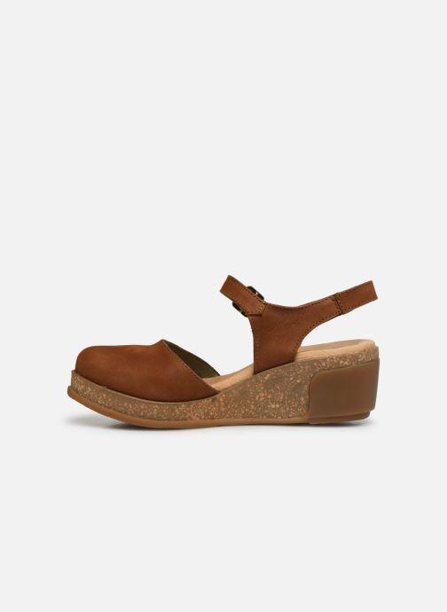 Sandales et nu-pieds El Naturalista Leaves 5001 Marron vue face