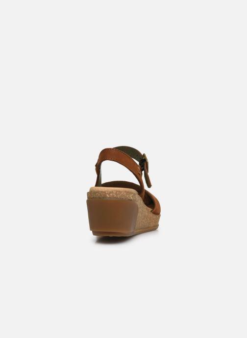 Sandales et nu-pieds El Naturalista Leaves 5001 Marron vue droite