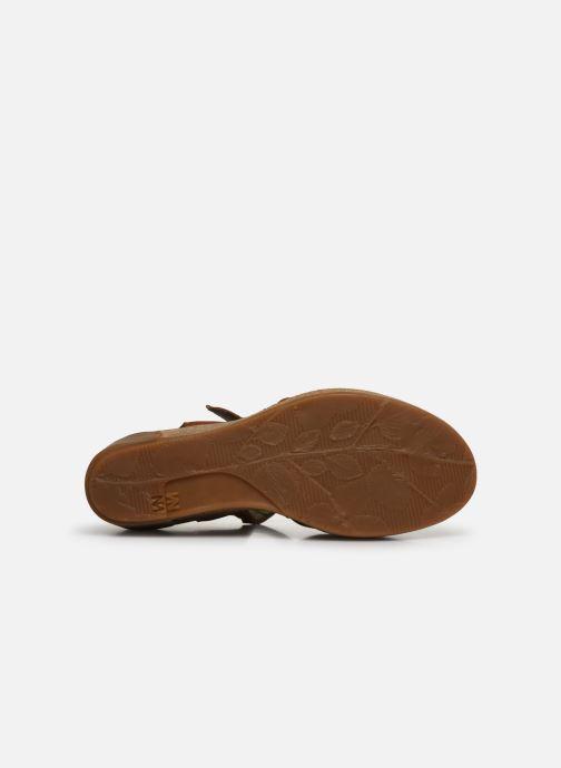 Sandales et nu-pieds El Naturalista Leaves 5001 Marron vue haut