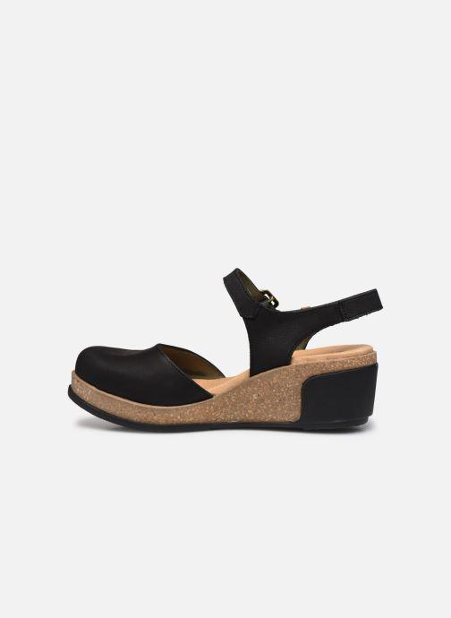 Sandales et nu-pieds El Naturalista Leaves 5001 Noir vue face