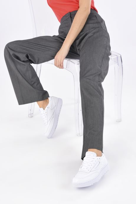 Sneaker Reebok Club C Double weiß ansicht von unten / tasche getragen