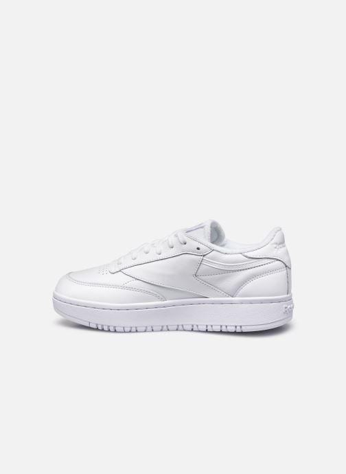 Sneaker Reebok Club C Double weiß ansicht von vorne