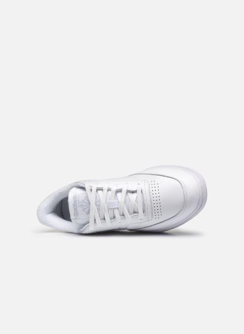 Sneaker Reebok Club C Double weiß ansicht von links