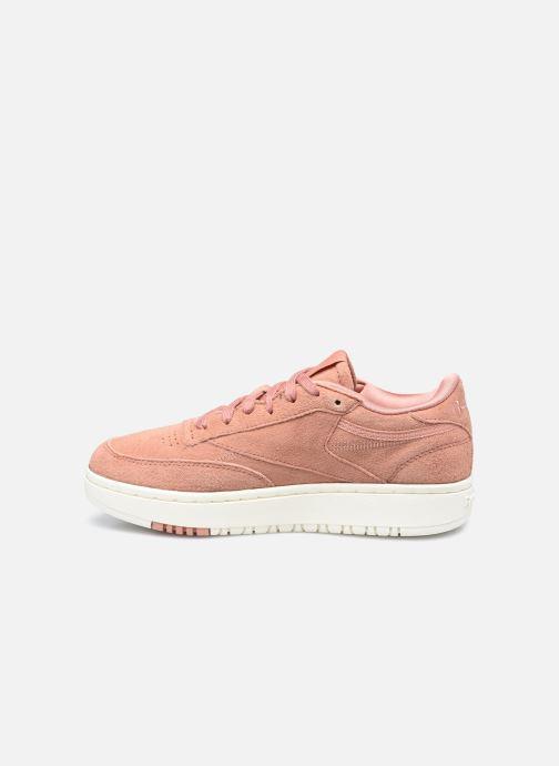 Sneaker Reebok Club C Double rosa ansicht von vorne