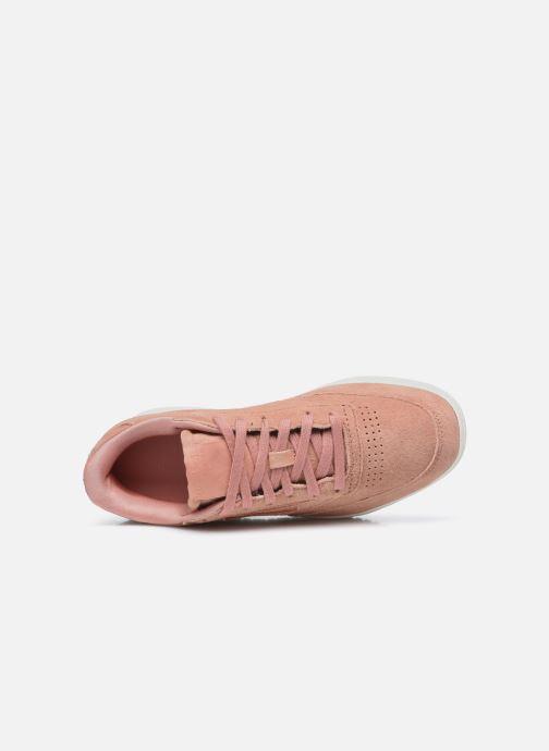 Sneaker Reebok Club C Double rosa ansicht von links