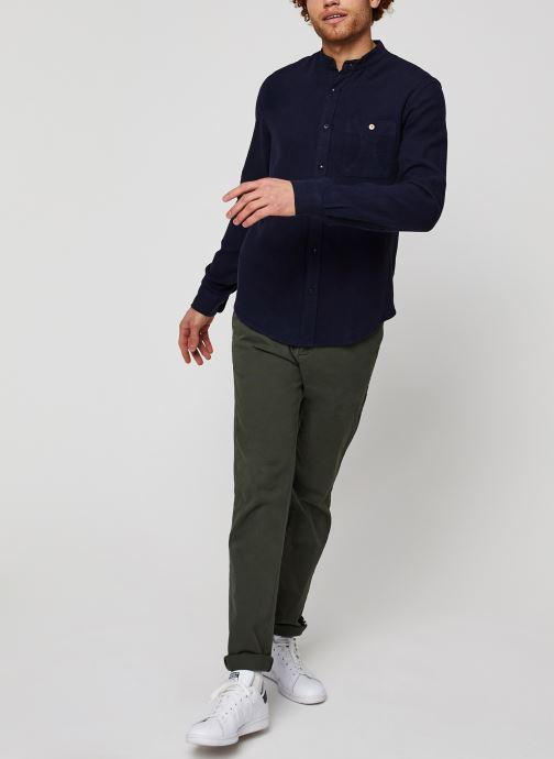 Vêtements Faguo ONCAO CHEMISE Bleu vue bas / vue portée sac