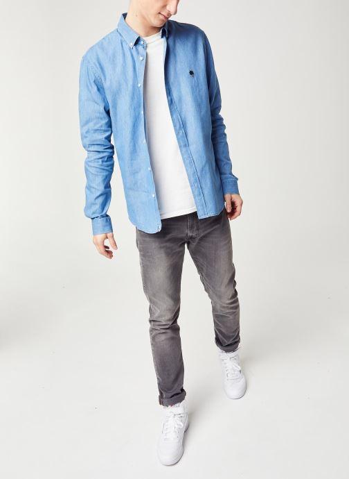 Vêtements Faguo IVOY CHEMISE Bleu vue bas / vue portée sac