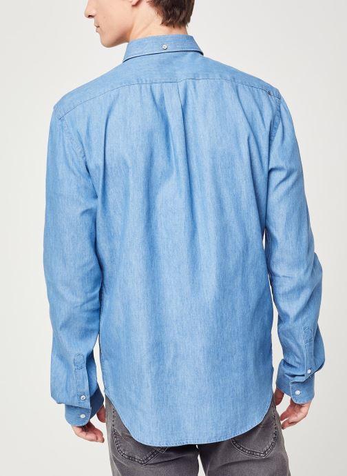 Vêtements Faguo IVOY CHEMISE Bleu vue portées chaussures