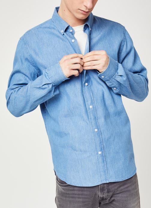 Vêtements Faguo IVOY CHEMISE Bleu vue droite