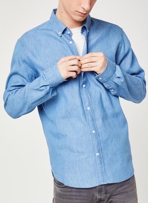 Vêtements Faguo IVOY CHEMISE Bleu vue détail/paire