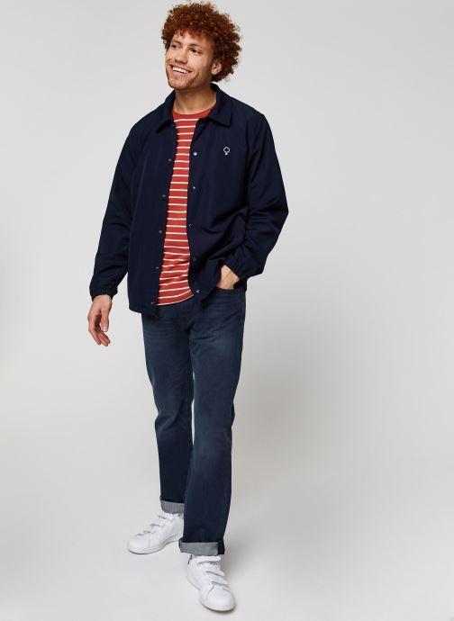 Vêtements Faguo SOLOGNE JACKET Bleu vue bas / vue portée sac