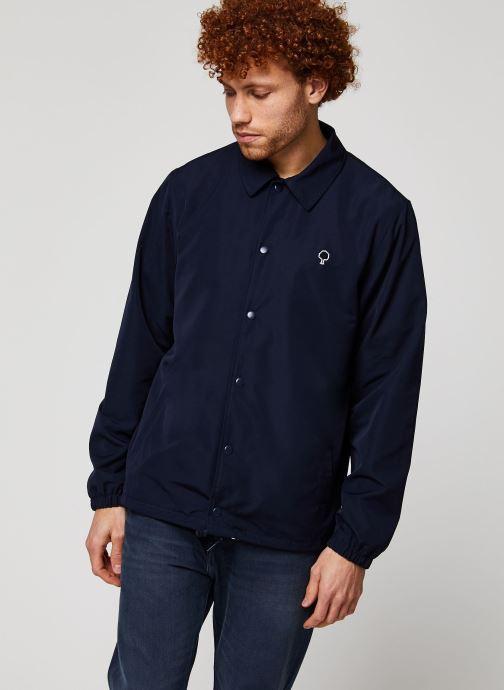 Vêtements Faguo SOLOGNE JACKET Bleu vue droite