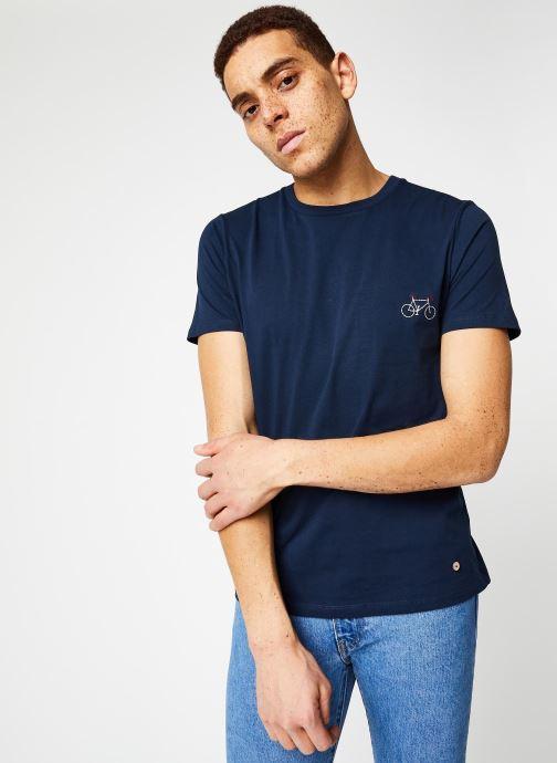 Vêtements Faguo ARCY T-SHIRT Bleu vue droite