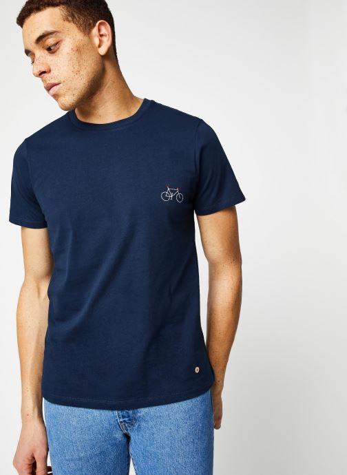 Vêtements Faguo ARCY T-SHIRT Bleu vue détail/paire