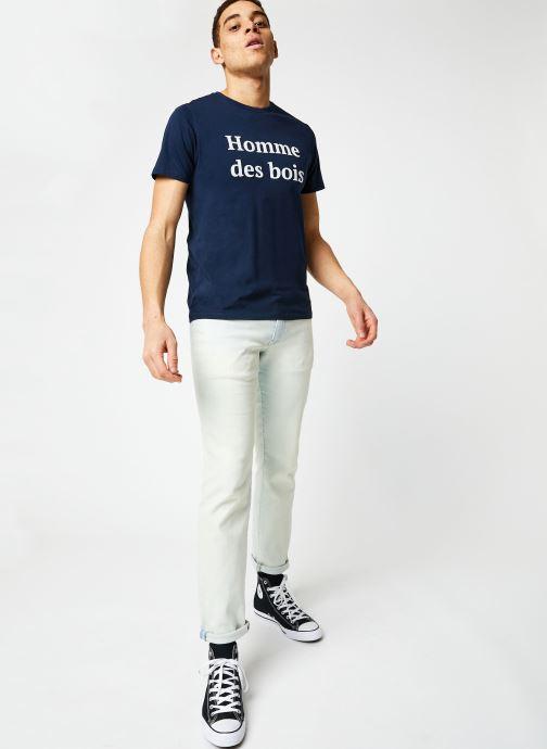 Vêtements Faguo ARCY T-SHIRT Bleu vue bas / vue portée sac