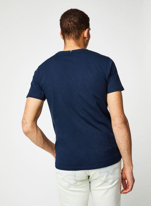 Vêtements Faguo ARCY T-SHIRT Bleu vue portées chaussures