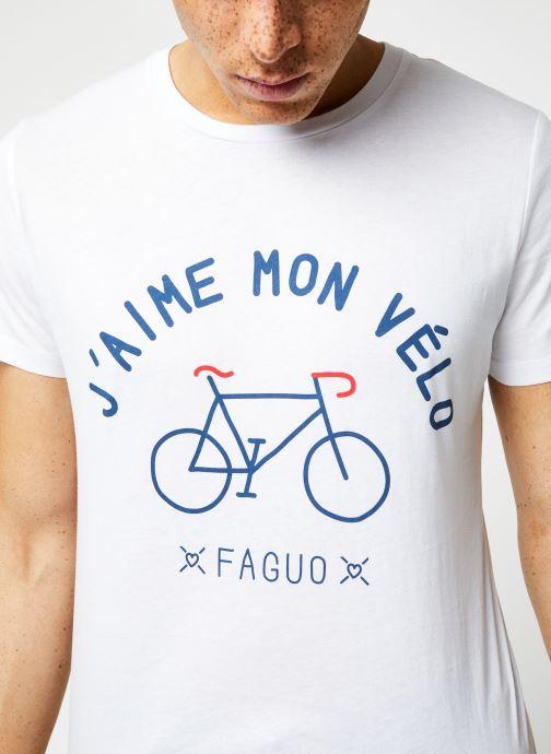 Vêtements Faguo ARCY T-SHIRT Blanc vue face