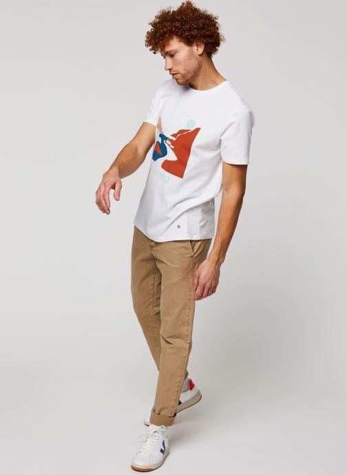 Vêtements Faguo ARCY T-SHIRT Blanc vue bas / vue portée sac