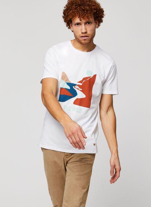 Vêtements Faguo ARCY T-SHIRT Blanc vue droite