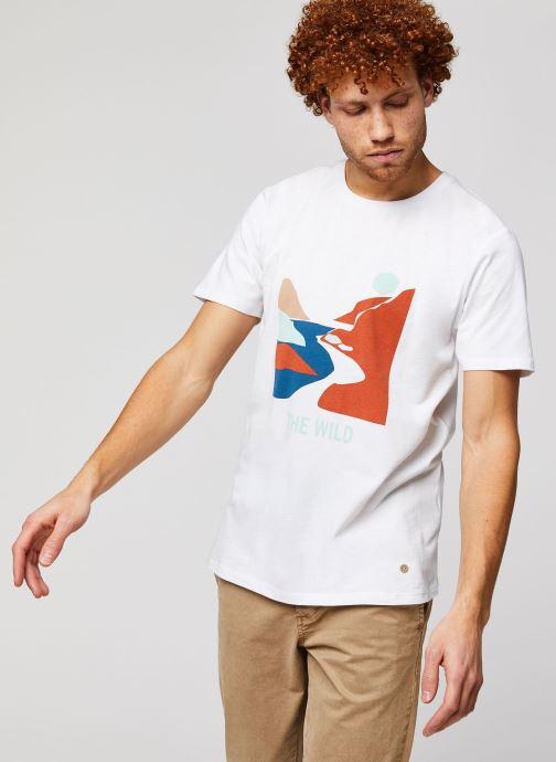 Vêtements Faguo ARCY T-SHIRT Blanc vue détail/paire