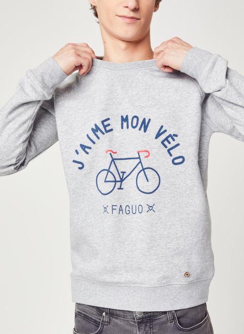 Vêtements Faguo DARNEY SWEAT Gris vue détail/paire