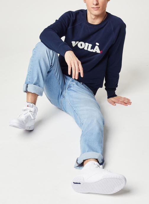 Vêtements Faguo DARNEY SWEAT Bleu vue bas / vue portée sac
