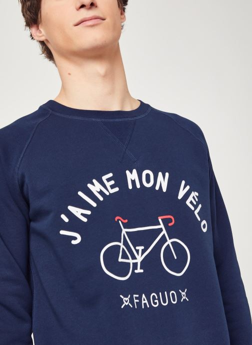 Vêtements Faguo DARNEY SWEAT Bleu vue face