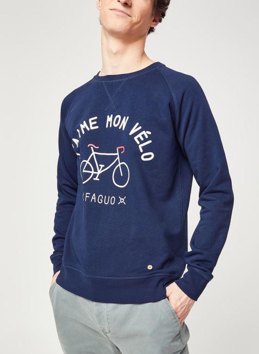 Vêtements Faguo DARNEY SWEAT Bleu vue détail/paire